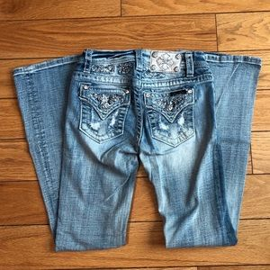 Girls Miss Me Bootcut Jeans Size 12